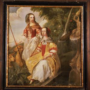 Dubbelportret van Odilia (1636-1672) en Philippina Maria (1637-1673) van Wassenaer