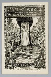 Hulde aan z.h. den paus Pius X.