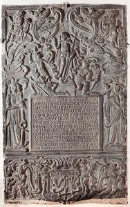 Epitaaf voor burgemeester Claus Madsen (†1653 ), zijn echtgenote Anna Rasmusdatter (†1674 ) en vicaris Johan Gosmann (†1680) en zijn vrouw Elisabeth Clausdatter (†1680 )