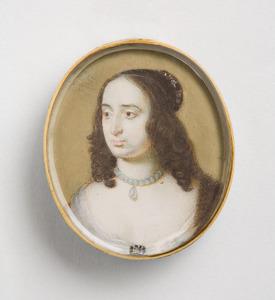 Portret van een vrouw genaamd Elisabeth van de Palts (1618-1680)