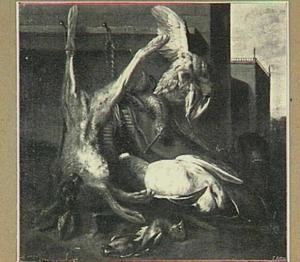 Stilleven met haas en gevogelte