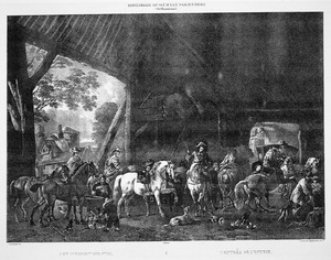 Het inrijden der stal
