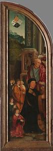 De H. Hieronymus met stichter Claes Bouwensz. Cat (...-1536) en zijn zonen