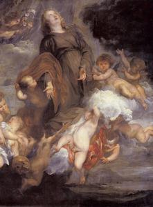 De H. Rosalie van Palermo ten hemel opgenomen