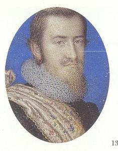 Portret van Christiaan IV, koning van Denemarken (1577-1648)