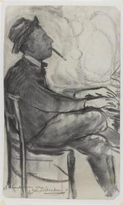 Portret van Joop Siedenburg (1875-1961) aan de piano