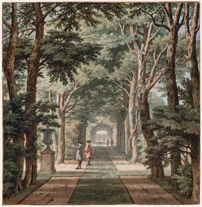 De laan van het Het Huis Heemstede bij Houten, gezien naar de ingang van het park
