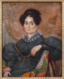 Portret van Marie Francisca Eugenie Levesques (1796-1849)