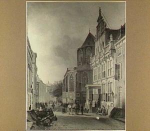 Gezicht op het Raadhuis van Den Haag