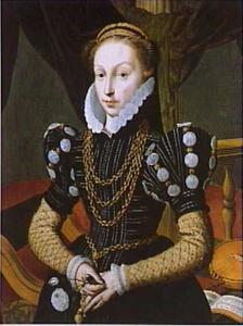 Portret van Maria van Woerden van Vliet (1540-1603)