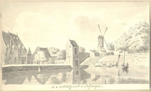 De Bottelpoort (Boddelpoort) te Nijmegen vanaf de landzijde