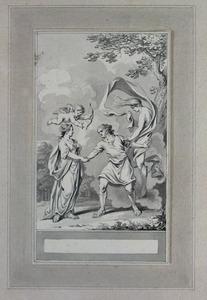Illustratie bij 'Het goed fortuin en de liefde' uit de Fabelen en vertelsels van F.C. Gellert