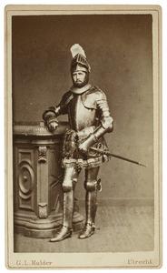Portret van Frederik Christiaan Hendrik Roijaards (1860-1917) als Graaf van Bossu