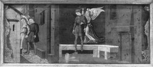 De aartsengel Raphael voorkomt een zelfmoord