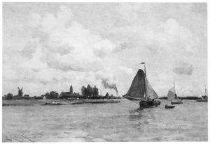 Rivierlandschap in de omgeving van Dordrecht