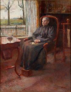 Portret van Johanna Louiza Lorie (1846-1928)