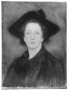 Portret van de kunstenares