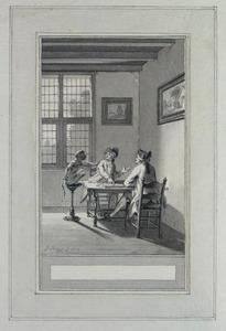 Illustratie bij 'De aap' uit de Fabelen en vertelsels van F.C. Gellert