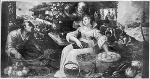 Allegorie van de zomer: vruchtenmarkt