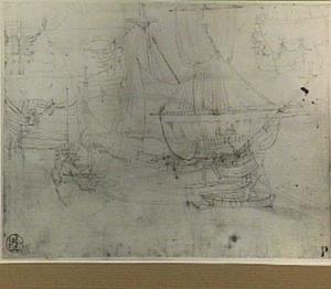Studies van zeilschip