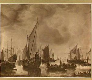 Bezoek van Frederik Hendrik II van Oranje aan de 'binnenvloot' te Dordrecht, 1646