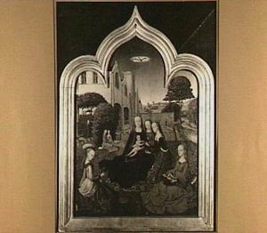 Maria met kind omringd door vrouwelijke heiligen: het mystieke huwelijk van de H. Catharina