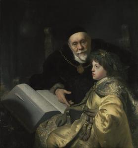 Portret van Karl Ludwig van de Palts (1617-1680) met Wolrad von Plessen (1560-1632) in de rol van Alexander de Grote en Aristoteles