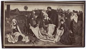 De bewening van Christus met donoren, vermoedelijk Anselmus Adornes en Margaretha van der Banck