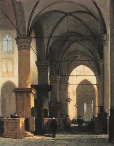Kerkinterieur van de Grote of St.-Laurenskerk in Alkmaar