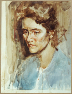 Portret van Olga Esser- Hazelhoff Roelfsema