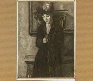 Vrouw bij een spiegel
