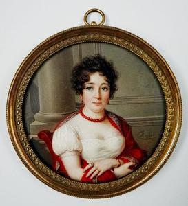 Portret van een vrouw genaamd Johanna Cornelia Ziesenis-Wattier (1762-1827)