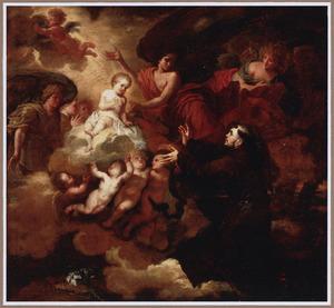 Het Christuskind verschijnt de H. Franciscus van Assisi in een visioen