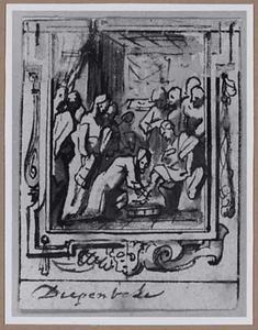 Christus wast de voeten van de apostelen