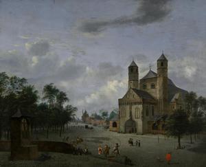 Gezicht op het St. Pantaleon in Keulen
