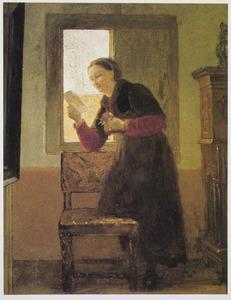 Brieflezende vrouw
