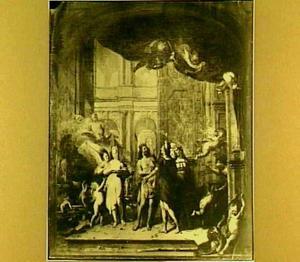 Zeus draagt Hermes op Pandora naar Epimetheus te brengen