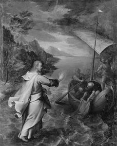 Jezus wandelt over het water