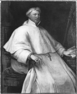 Portret van abt Servatius Vaes van de premonstratenzer abij van Averbode