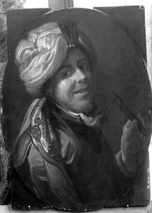 Jonge man met tulband en fluit