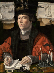 Portret van een koopman, mogelijk Jeronimus Sandelin