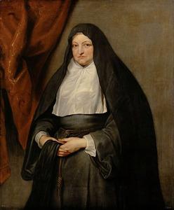 Portret van de Infanta Isabella Clara Eugenia als weduwe in het habijt van de Ongeschoeide Clarissen