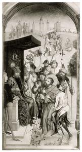 De H. Jacobus de Meerdere wordt berecht (op de keerzijde: de H. Jacobus de Meerdere als Morendoder)