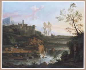 Zuidelijk landschap met waterval