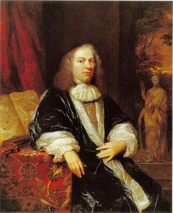 Portret van een man mogelijk Justus de Huybert (1611-1682)