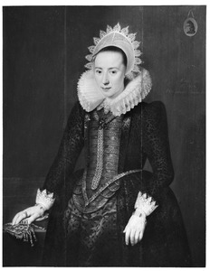 Portret van Jannetje Berckel (1592-1615)