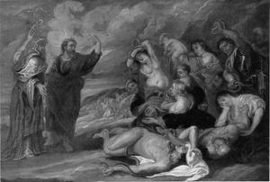 Al wie gebeten is door een slang en opziet naar de door Mozes opgerichte Koperen Slang wordt genezen (Numeri 21:6-9)