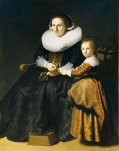 Portret van Susanna van Collen (....-....) en haar dochter Anna Pellicorne (1627-....)