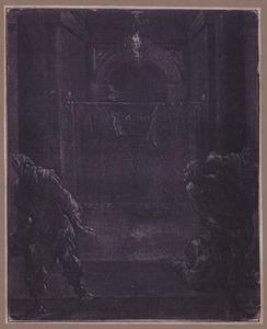Het voorhangsel in de tempel scheurt doormidden na Christus' dood