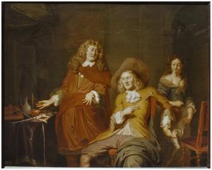 Dubbelportret van Herck Waerden (....-1688) en Dirck Waerden (....-1689)